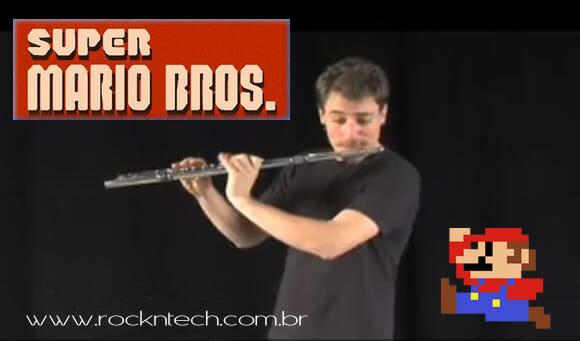 VIDEOFUN - Tema do Super Mario tocado na flauta com Beatbox.