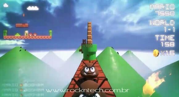 Como seria o game Super Mario Bros se fosse jogado em primeira pessoa. (com vídeo)
