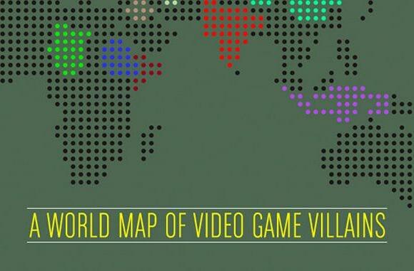 Infográfico: O Mapa-Múndi dos vilões do videogame.