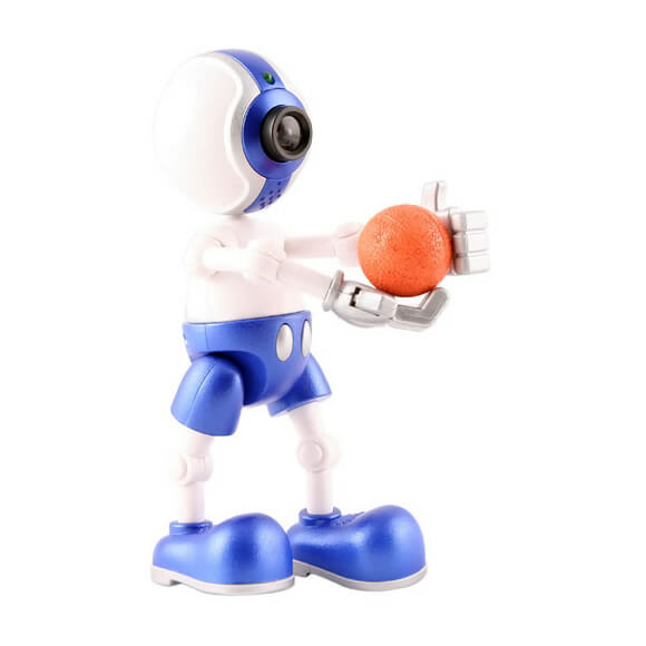 Webcam em forma de boneco jogador de basquete.