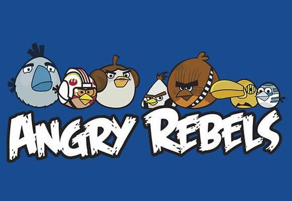 Angry Rebels - Uma mistura de Angry Birds com Star Wars.