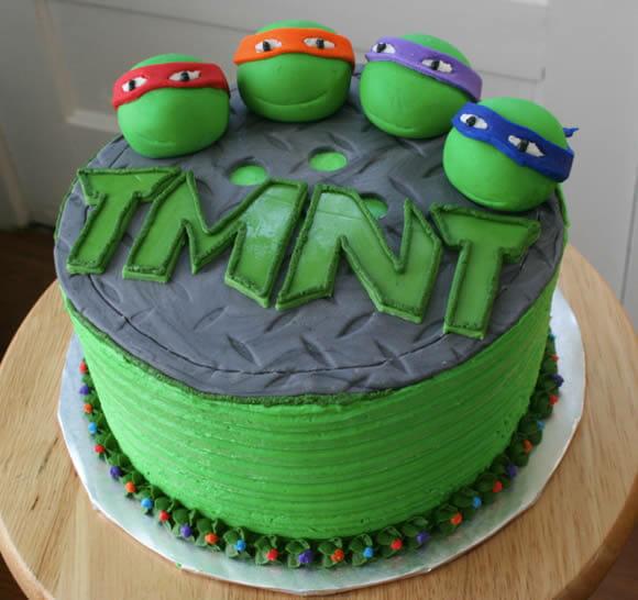 Bolo das Tartarugas Ninjas é um presente geek de aniversário!
