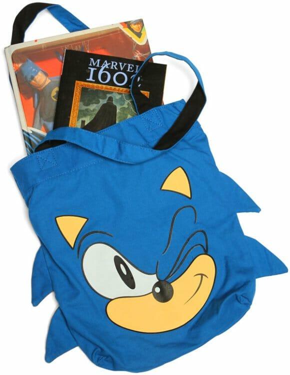 Bolsa para fãs do Sonic.