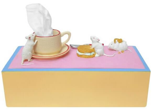 Caixas de lenço criativas e engraçadas.