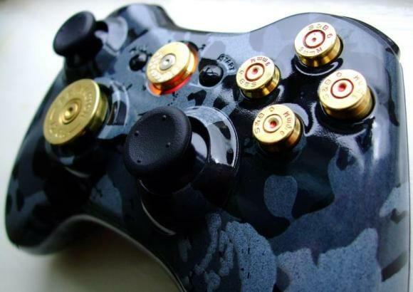 Controle do Xbox de macho só se for equipado com balas de revólver de verdade.