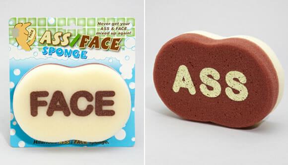 Esponja Ass/Face - Um lado lava a dianteira e o outro lava a traseira!