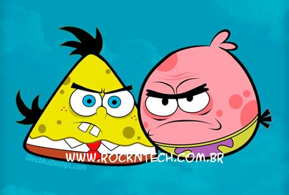 FOTOFUN - Bob Esponja Angry Birds.