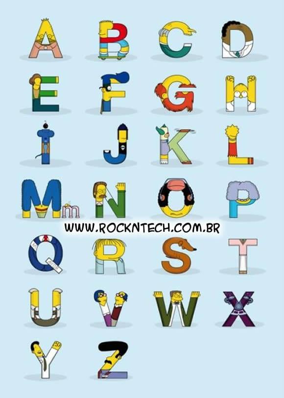 FOTOFUN - Os Simpsons em ordem alfabética