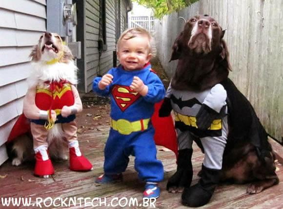 FOTOFUN - Super-Homem Junior e seus amigos.