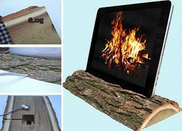 i-Log - Um suporte rústico para o seu iPad.