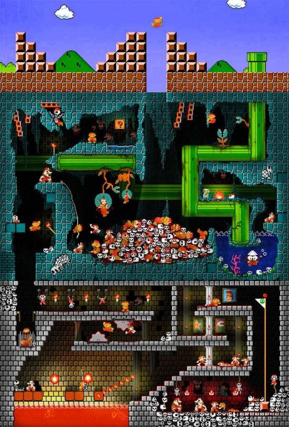 O que acontece quando o Super Mario morre?