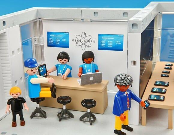Kit Playmobil loja da Apple com detalhes para fã nenhum botar defeito! (com vídeo)