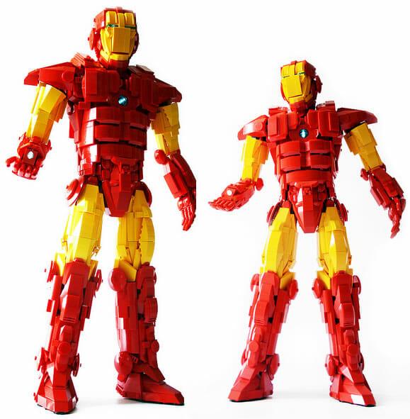 Iron Man feito de LEGO. Seria ele um LEGO Man?