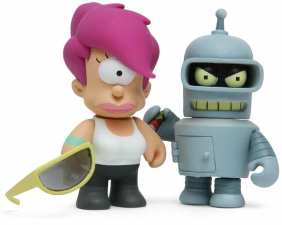 Mini figures colecionáveis da série Futurama.
