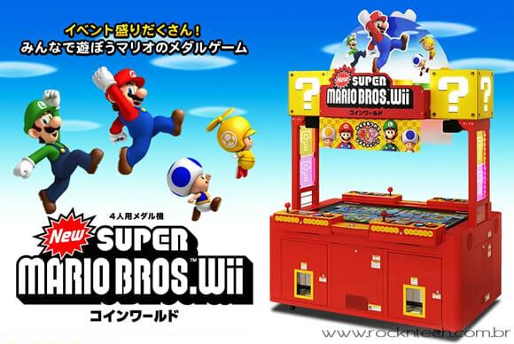 Novo fliperama do Super Mario oferece moedas de verdade aos jogadores! (com vídeo)