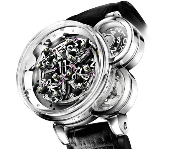 Opus Eleven -  Um relógio de pulso exótico que custa mais do que uma casa. (com vídeo)