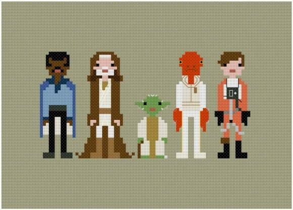 Famosos personagens estilo 8-bits. Você nem imagina como são feitos.