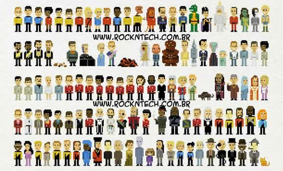 235 personagens de Star Trek Pixelizados.