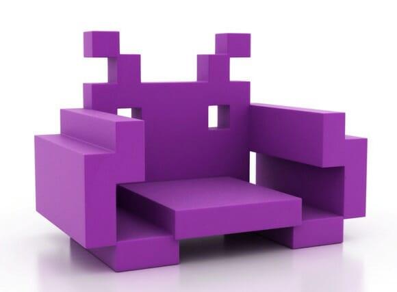 Casa de geek tem que ter cadeiras Space Invaders!