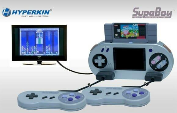 SupaBoy - Um Super NES portátil compatível com os cartuchos originais do console.