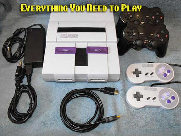 Um console Super Nintendo compatível com Games de diversas plataformas. (com vídeo)