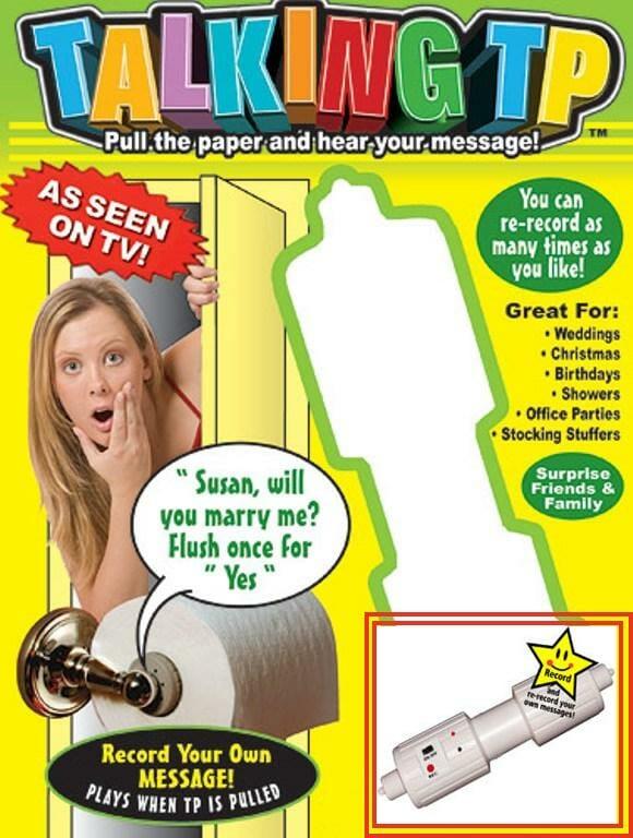 Equipe seu banheiro com um porta papel higiênico falante!