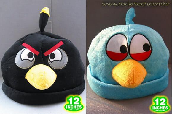 Prepare-se para o inverno com toucas dos personagens do game Angry Birds!