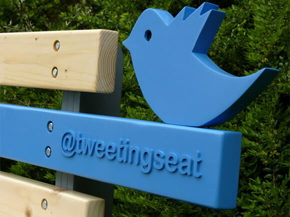 TweetingSeat - O curioso banco dos tweets.
