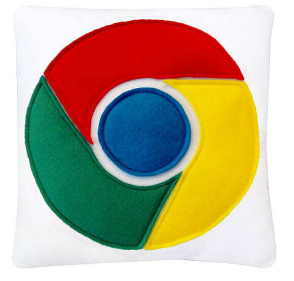 Almofadas geeks para fãs da Google.