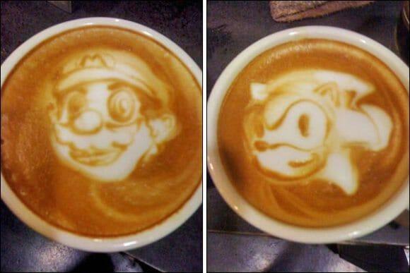 Deixe seu café da manhã mais divertido criando obras de arte geeks no leite!