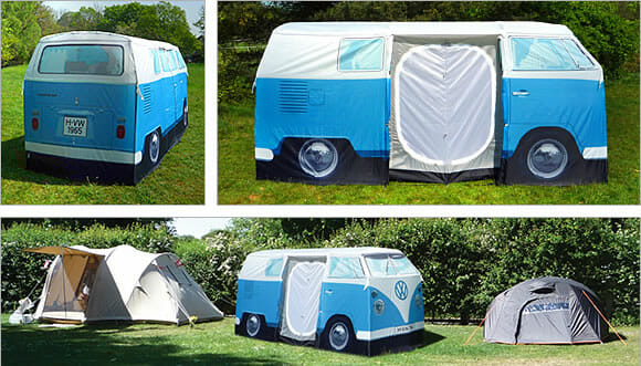 ffd735e07 Acampe com estilo em uma barraca de camping que imita uma Kombi ...