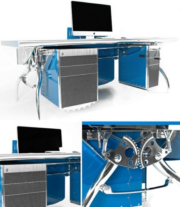 Turbine seu escritório com uma mesa para PC inspirada em uma Bugatti Grand Prix!