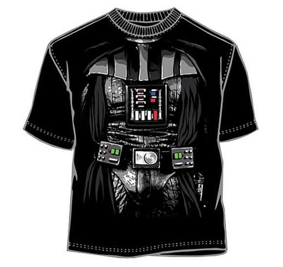 Camiseta do Darth Vader mostra o lado negro da moda.