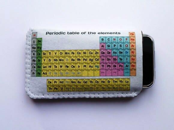 Capa para iPhone estampada com a Tabela Periódica