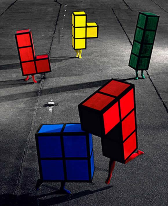 Clássicos do mundo dos games retratados em cenários reais.