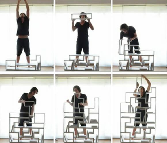 Estante Tetris - Com ela organizar os livros é muito mais divertido! (vídeo)