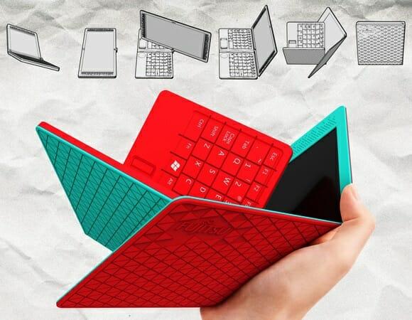 Flexbook - Um curioso notebook que pode ser dobrado como um lenço.