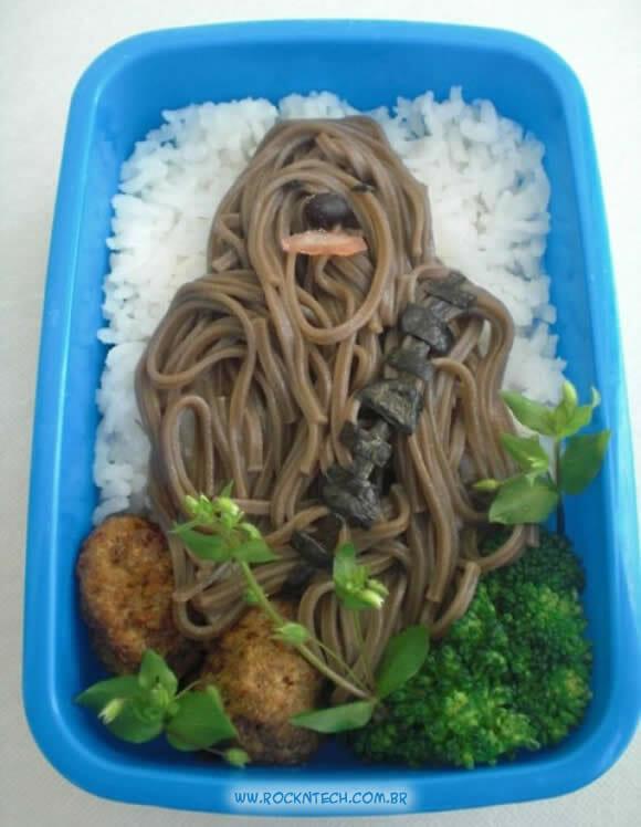 FOTOFUN - Prato geek do dia: Bentō Chewbacca!