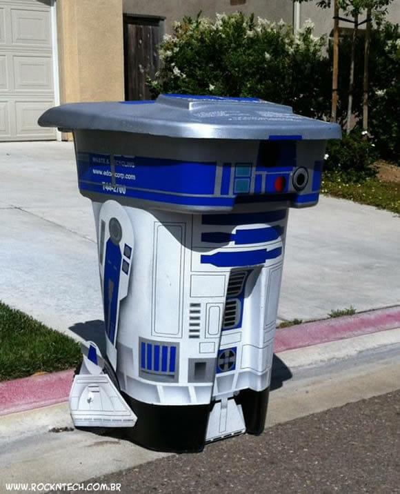 FOTOFUN - Lixeira de casa de geek tem que ser do R2-D2!
