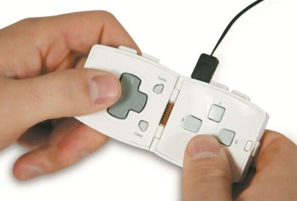 Go Pad - Um mini controle USB para games dobrável para se carregar no bolso.