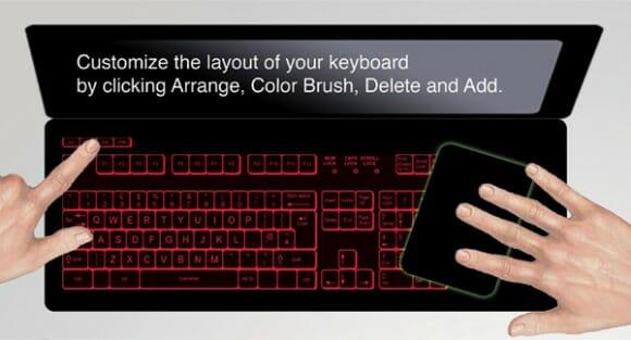 Keyless Lifebook - Um notebook conceito com um teclado touchscreen personalizável.