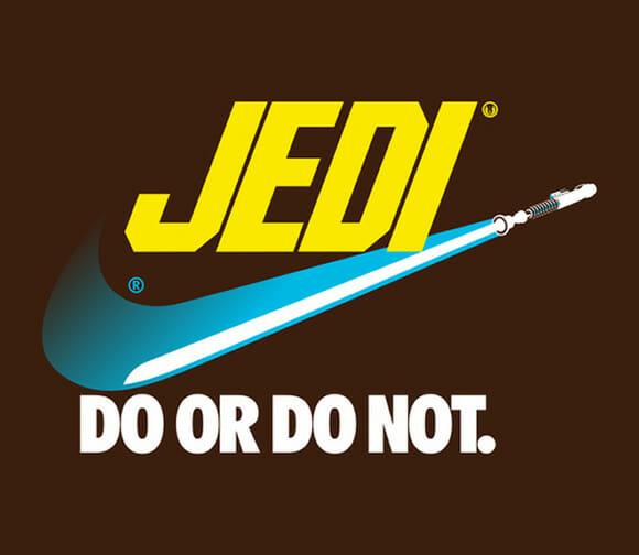 Logomarcas famosas diretamente do Universo Star Wars.