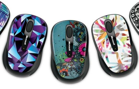 Microsoft lança linha de mouses Artist Edition com estampas coloridas.