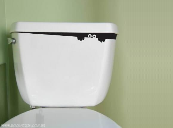 Personalize seu vaso sanitário com um monstro!