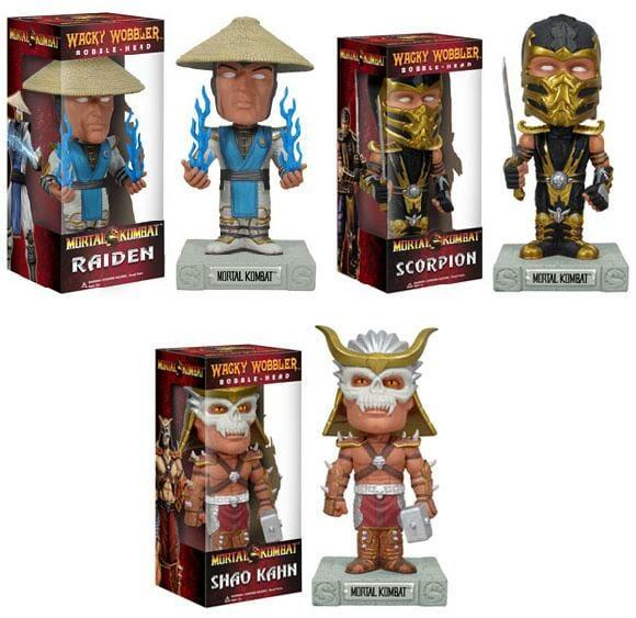 Nova coleção de Bobble Heads da Funko com personagens do game Mortal Kombat 9.