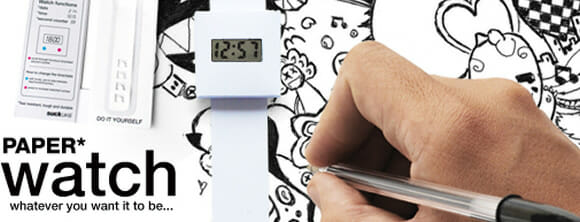 Paper Watch - Um relógio de papel feito para ser personalizado por seu dono.