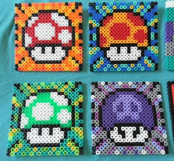 Conjunto de porta copos divertidos com o tema Super Mario.