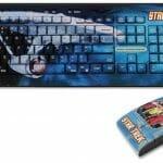 Set de teclado e mouse do Star Trek.
