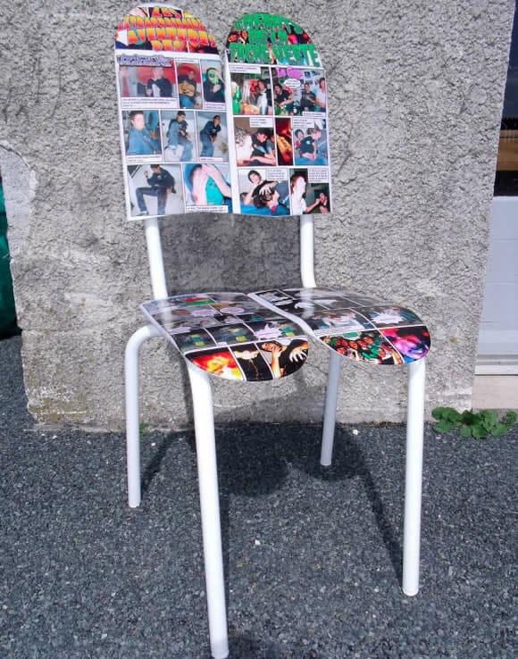Skateboard Chairs - Cadeiras feitas com deck de skate.