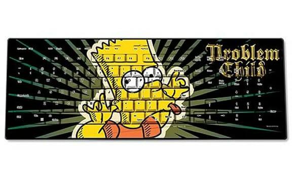 Teclado do Bart para fãs dos Simpsons.